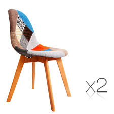 eames dining chair. Set Of 2 Replica Eames Dining Chairs Fabric Chair
