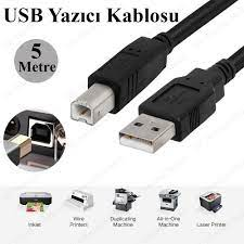 5 Metre USB Yazıcı Kablosu HP- Canon-Brother Printer Kablo Fiyatı ve  Özellikleri - GittiGidiyor