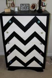 chevron painted furniture. Hand Painted Chevron Stripes Wood Dresser Black By CaraMusciano, $575.00 Furniture