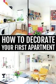 Decorating Your First Apartment Simple Inspiration Design