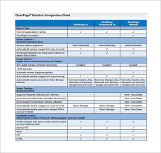 Comparison Chart Template 13 Free Sample Example Format