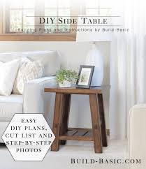 build a diy side table building plans by buildbasic build basic
