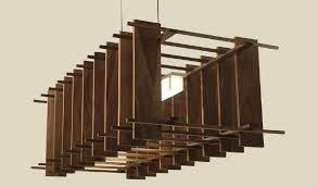 wooden hanging lamp hanging light fixture led linear aluminum by nick how to make wooden hanging