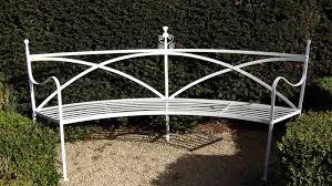 wrought iron regency bench garden