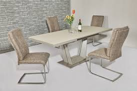 fancy glass dining table and 6 chairs 5 round new 7 piece top set of