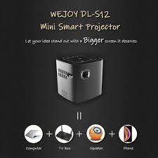 Wejoy DL-S12 Pocket Cinema Projector Mini For Mobile Phone Beamer Celular  Proyector Tactil Touch WiFi TV 4K Data Show Cinemood-Leather bag