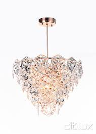 peria 6 lights pendant rose gold cux