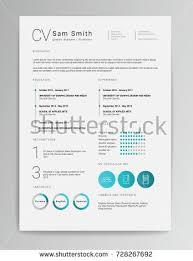 Elegant Resume Template Simple Elegant Minimalistic Modern Vector Resume CV Stock Vector Royalty