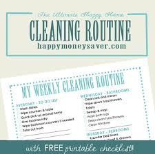 cleaning schedule printable my ultimate happy home cleaning routine plus free printable