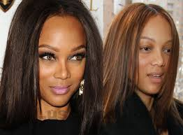tyra banks makeup and without makeup