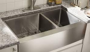 kohler undermount wall utility farmhouse du steel flush inspiring white laminate countertop double surface a
