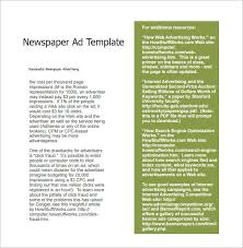 Full Page Newspaper Ad Template Sample Newspaper Ad 6 Documents In Pdf Word