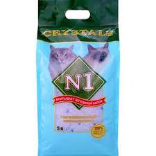 <b>Наполнитель N1 Crystals впитывающий</b> силикагель для кошек 5л ...