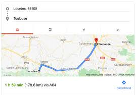 from lourdes to toulouse with driver