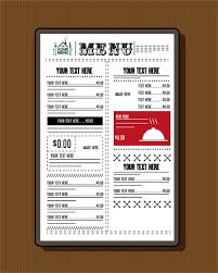Resturant Menu Template Restaurant Menu Template Classical Black White Design Free Vector In