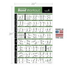 Total Body Gym Workout Chart Resistance Band Tube Exercise Poster Laminated Total Body Workout Personal Trainer Fitness Chart Home Fitness Training Program For Elastic Rubber