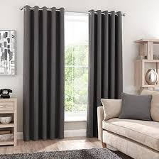 Black living room curtains Nepinetwork Luna Brushed Charcoal Thermal Blackout Eyelet Curtains Dunelm All Ready Made Curtains Dunelm