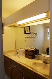 fluorescent bathroom lighting. Old Counter Tops, With Ugly Big Fluorescent Light Box! Bathroom Lighting Pinterest