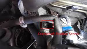 diy crankshaft position sensor benz cranks no start remove bolt remove the crankshaft position sensor you will have either an e8 or e10 bolt that holds the cps sensor in place cps mercedes benz engine