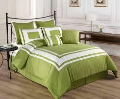8 Piece Queen Lux Decor Pistachio Green Comforter Set