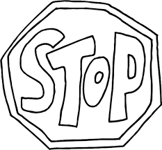 Small Picture Stop Sign Coloring Page Traffic Signs Coloring Page Sign Stop