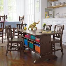 kids antique chocolate child sized play table playroom table and chairs ikea