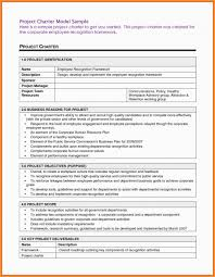Project Management Charter Template Goal Goodwinmetals Co Sample 9