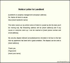 example 30 days notice letter to landlord thirty day notice letter