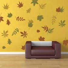 Small Picture Autumn Leaves Wall Art Design Trendy Wall Designs