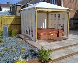 outdoor hot tub enclosure ideas and surround