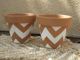 chevron terracota painting design