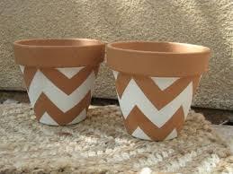 chevron terracota painting design