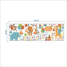 Us 274 45 Offjungle Adventure Dieren Behang Muurstickers Voor Kids Nursery Kamers Baby Woondecoratie Zoo Anime Poster Monkey Muurstickers In