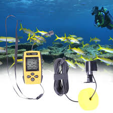 Sea 100m 200KHz <b>Underwater Sonar Fish Finder Detector</b> Cam ...