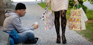 Image result for pictures of wealthy and poor people