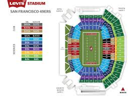 49ers Seating Chart Prices 49ers Seating Chart And Prices