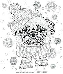 Local Pug Coloring Pages Printable Cute Dog Colouring Page O
