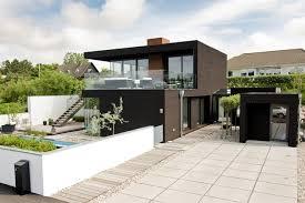Driveway of Modern beach house in Sweden