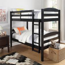 better homes gardens leighton twin over twin wood bunk bed black
