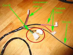 jpg to modify the compressor harness cut off the 2 solenoid connectors circled in red as they will not be needed