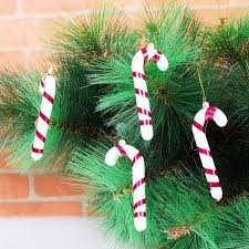 Plastic Candy Cane Decorations 100Pcsbag Plastic Candy Cane Ornaments Christmas Tree Hanging 52