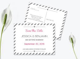 Save The Date Postcard Templates Silver Grey Carnival