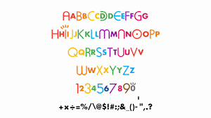 It features soft curves and a bold looking weight, numerals, and basic grammatical symbols. Cbbc Font 1992 Youtube