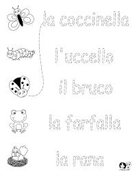 Italian Worksheets for Kids ~ Spring Printout Italian ~ Italian ...