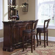 furniture small home bar sets with dark brown bar tabl and round