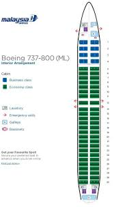 737 800 Seating Chart Malaysia Airlines Boeing 737 800 Aircraft Seating Chart