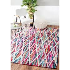 awesome rainbow area rug with nuloom contemporary rainbow striped kids area rug 8 x 10