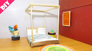 Miniature Dollhouse Bedroom Furniture Diy Miniature Dollhouse Bedroom Popsicle Stick Crafts Easy