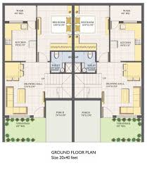 house plan for 20 feet by 45 feet plot beautiful 22 new 40 x 40 house