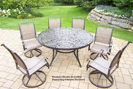popular of round patio dining sets for 6 cascade 7 pc patio dining set 60 round
